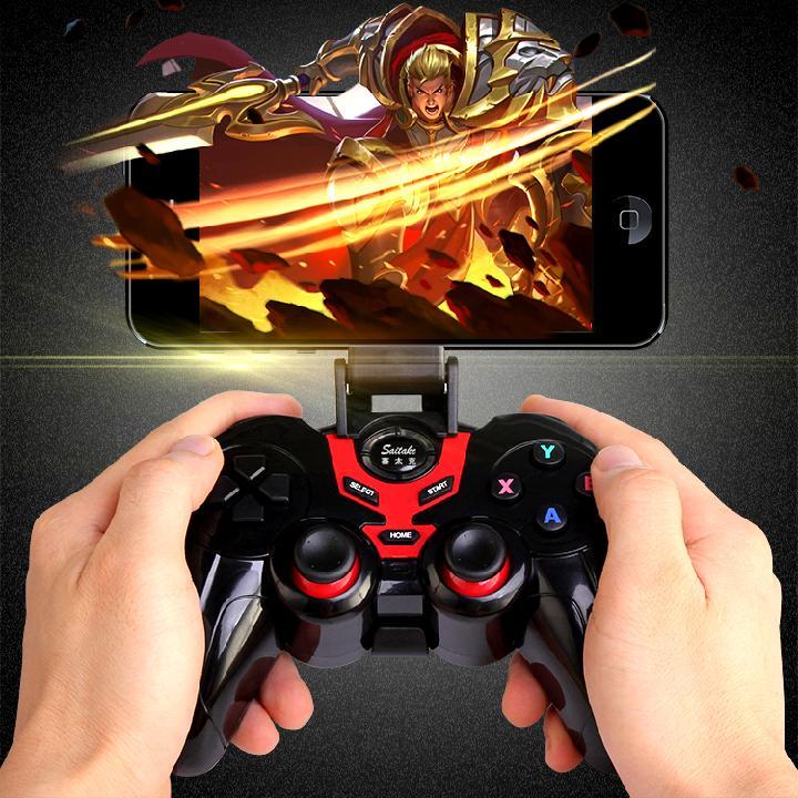 Hình ảnh Tay cầm chơi game Liên Quân tặng kèm giá đỡ điện thoại Terios T3 (Đen)