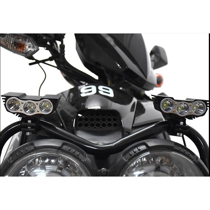 Đèn trợ sáng mắt cú 3 bóng dành cho mọi loại xe