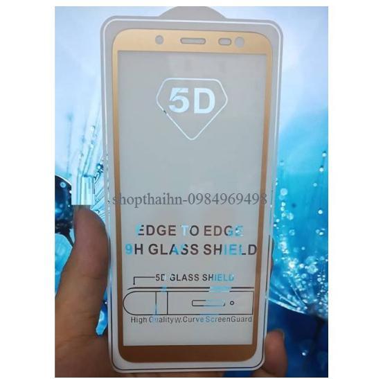 Hình ảnh Kính cường lực 5D full keo màn hình samsung j6 2018 màu vàng