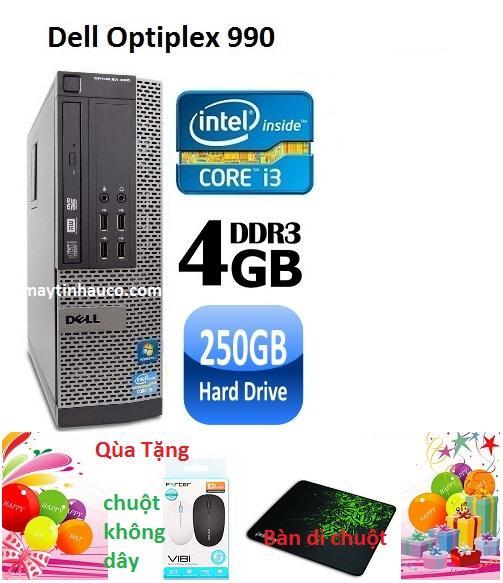 Giá Bán May Tinh Đồng Bộ Dell Optiplex 990 Core I3 Ram 4Gb Hdd 250Gb Tặng Chuột Khong Day Chinh Hang Ban Di Chuột Bảo Hanh 24 Thang Hang Nhập Khẩu Xam Mới Rẻ