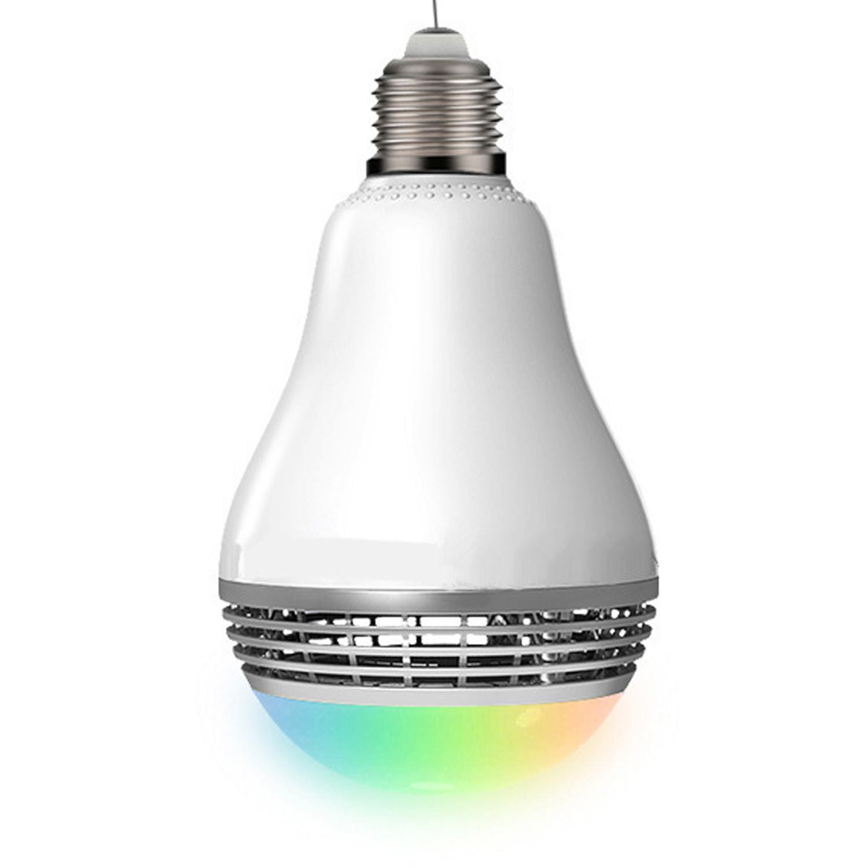 Hình ảnh E27 Bluetooth Smart RGB LED Bulb Speaker Music Bulb APP Remote Control Music Light Lamp - intl