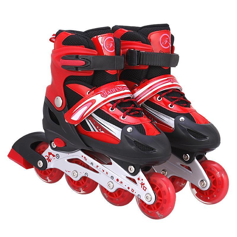 Giày Patin LongFeng 4 bánh LED dành cho trẻ em (Size tùy chỉnh từ 31-34) (màu đỏ)