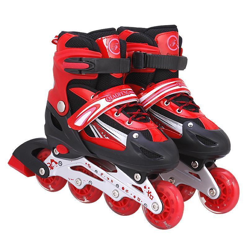 Phân phối Giày Patin LongFeng 4 bánh LED dành cho trẻ em (Size tùy chỉnh từ 31-34) (màu đỏ)