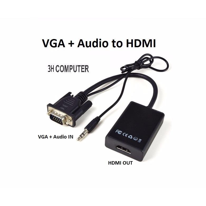 Giá Bán Cap Chuyển Đổi Vga Sang Hdmi Co Audio Vga To Hdmi Hồ Chí Minh