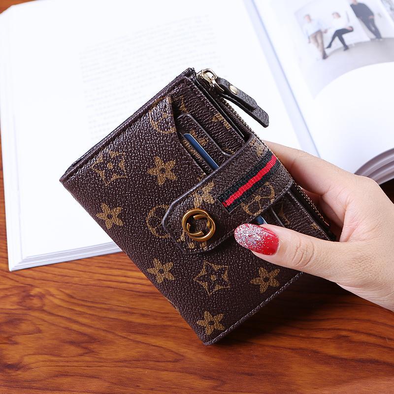 กระเป๋าสตางค์ผู้หญิง ทรงสั้น พิมพ์ลาย วินเทจ สไตล์ยุโรป อเมริกา By Taobao Collection.