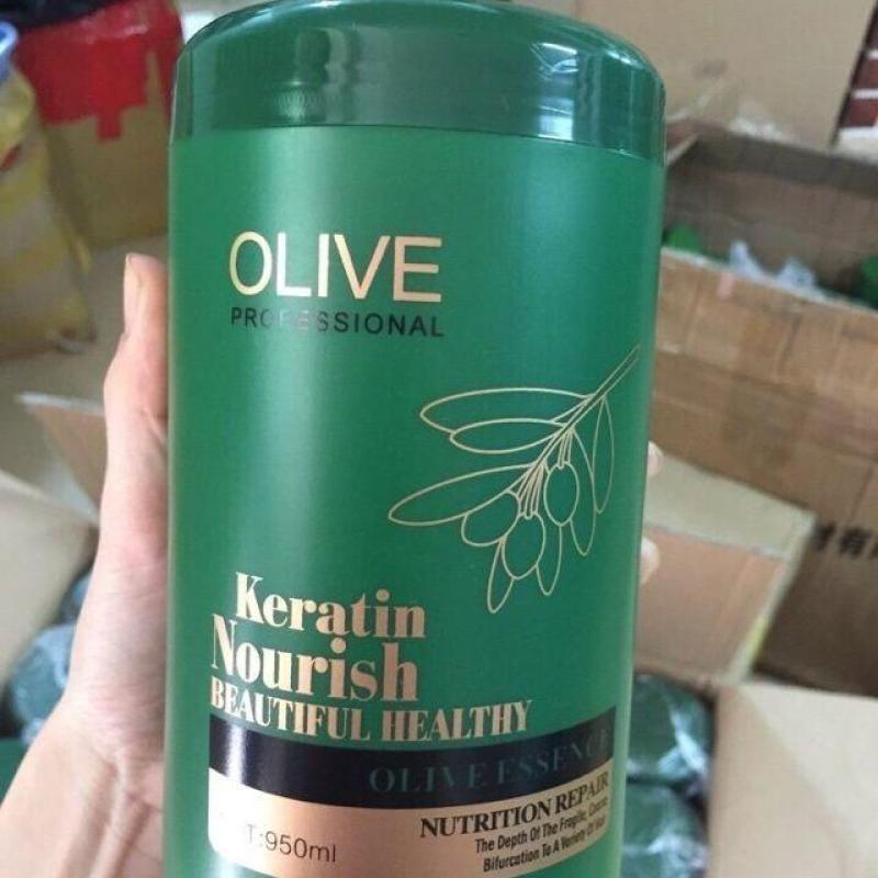 HẤP TÓC OLIVE Hũ lớn 950ML chuyên dùng cho Salon tóc nhập khẩu
