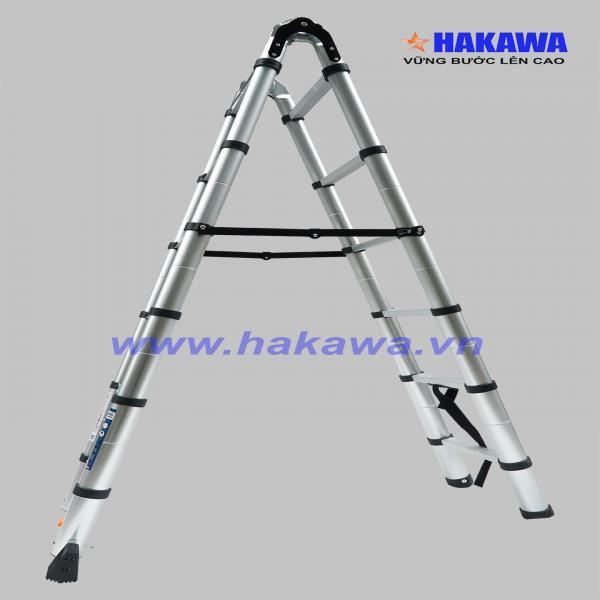 Hình ảnh Thang nhôm rút đôi cao cấp HAKAWA HK238 - Hàng NHẬT BẢN cho người VIỆT