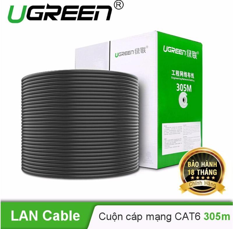 Bảng giá Thùng cáp mạng Cat 6 UTP 23AWG dài 305M UGREEN NW109 11259 - Hãng phân phối chính thức Phong Vũ