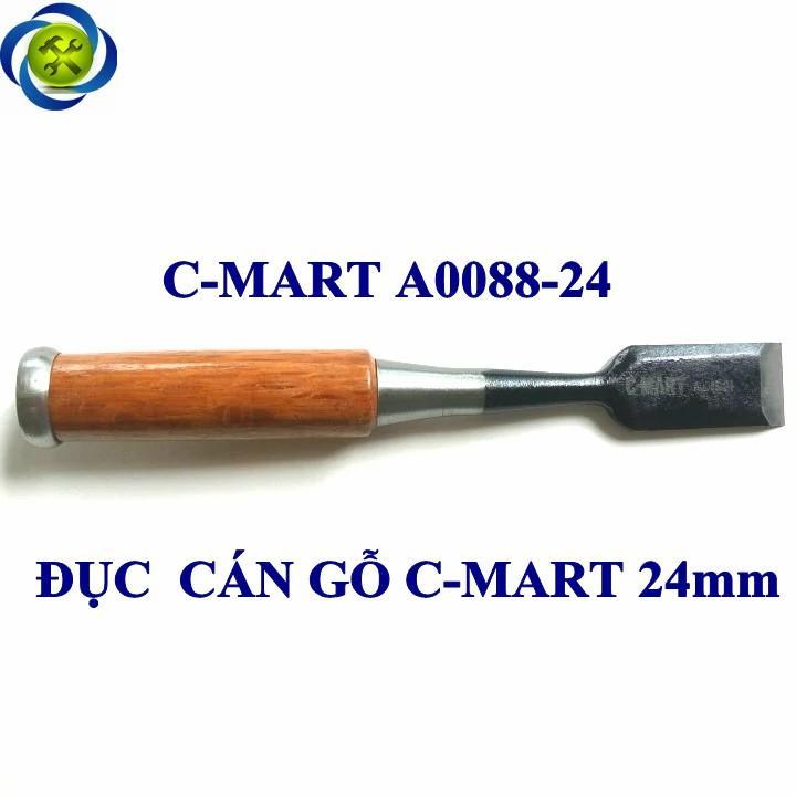 Đục thợ mộc cán gỗ C-Mart A0088-24 24mm