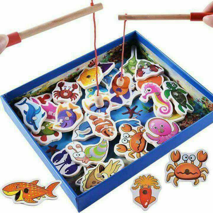 Hình ảnh Bộ câu cá gỗ 35 chi tiết cho bé yêu