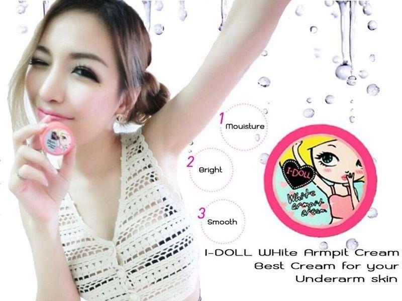 Kết quả hình ảnh cho I Doll White Armpit Cream 5g