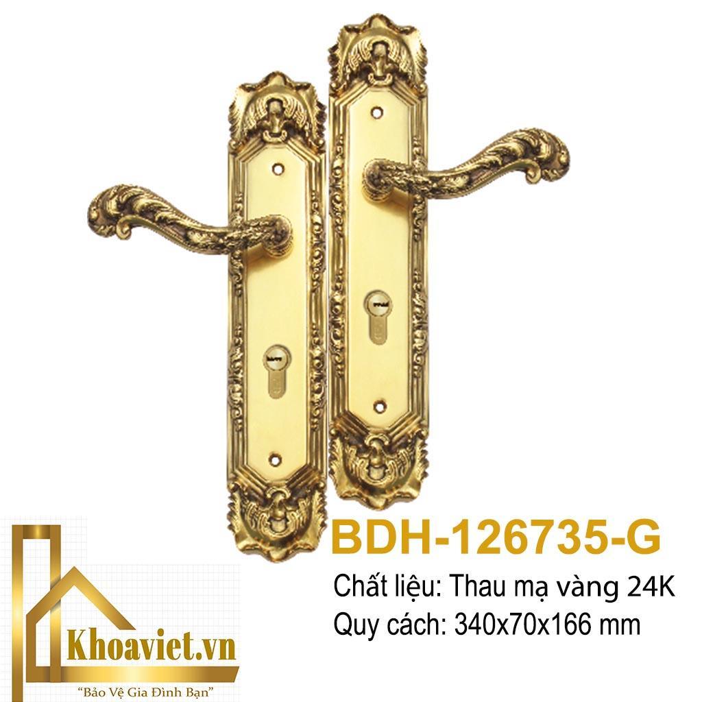 Khóa Tay Gạt Mạ Vàng BDH-126735-G
