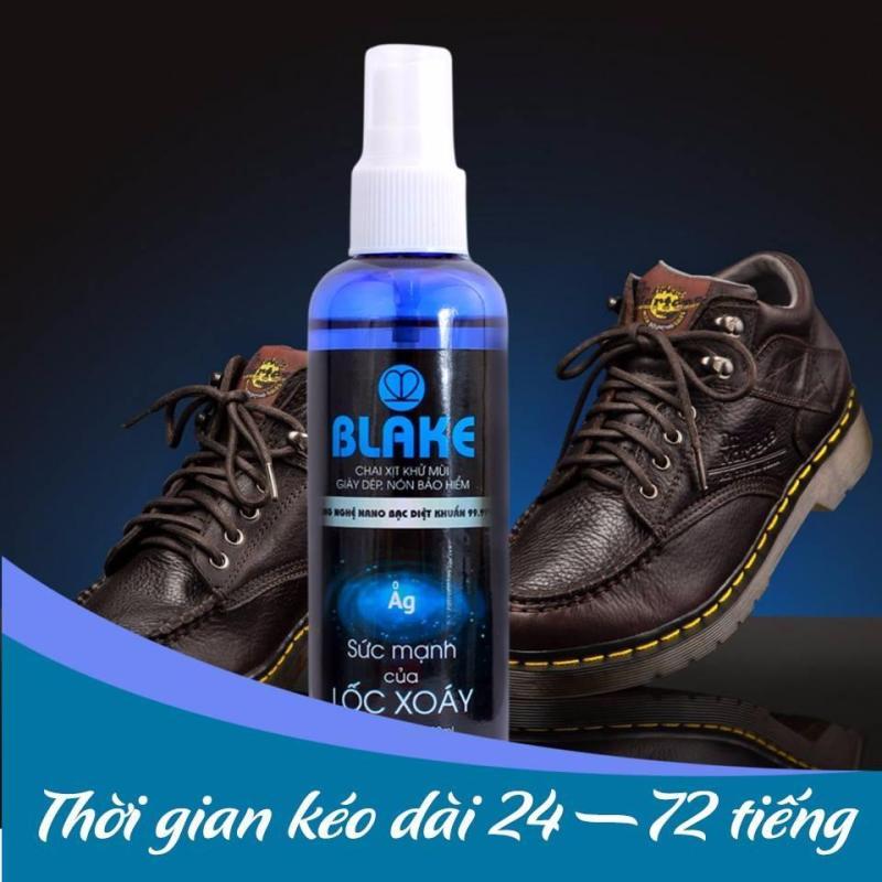 Xịt khử mùi hôi chân, hôi giầy BLAKE dòng nano Bạc khử khuẩn 99%, hương nước hoa nhập khẩu