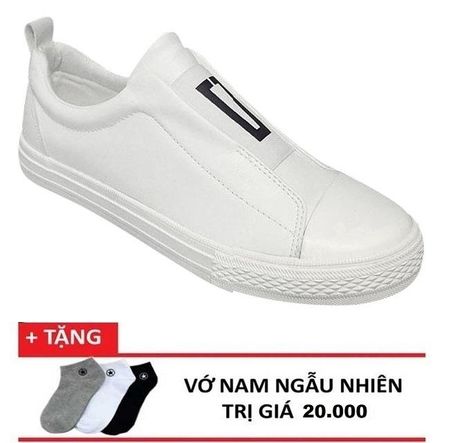 Giày lười da thể thao hè 2018 nhập khẩu OCCO + 1 đôi vớ tặng kèm Nhật Bản