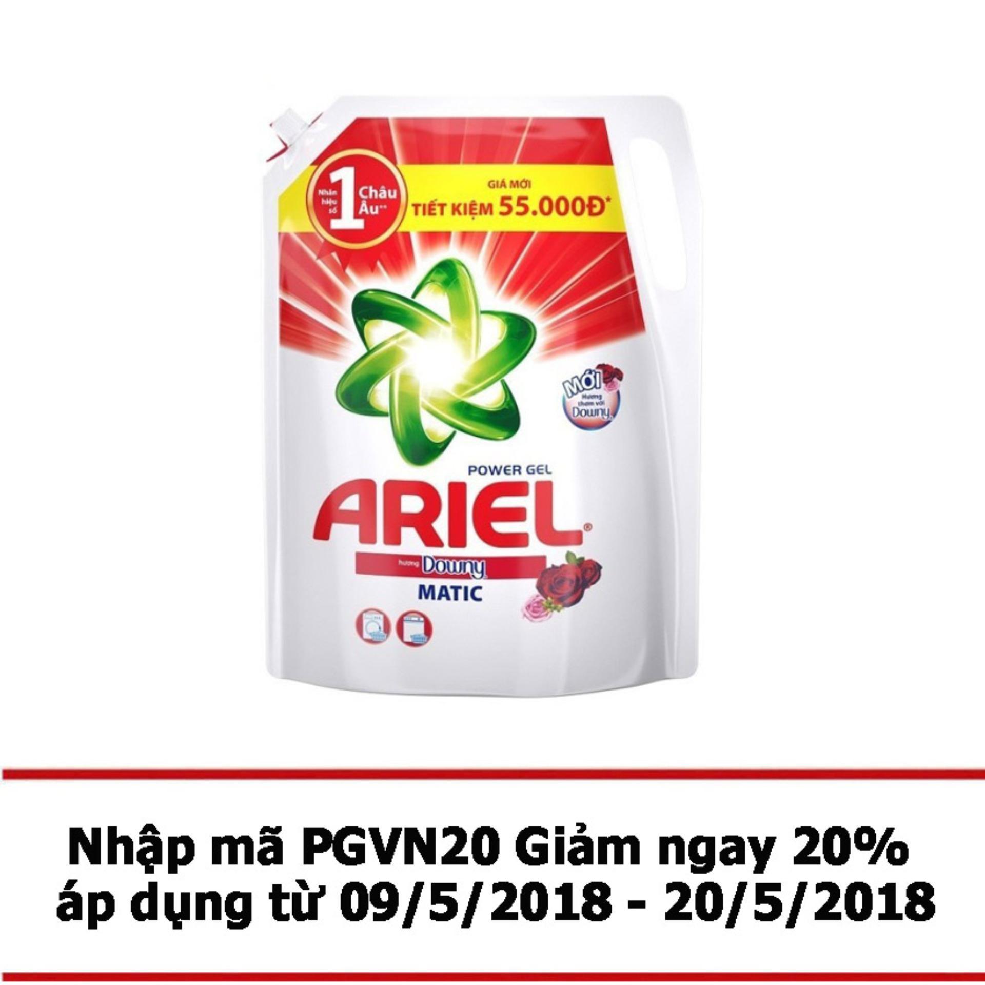 Bán Nước Giặt Ariel Matic Downy Gel Đậm Đặc 2 4Kg Dạng Tui Trong Vietnam