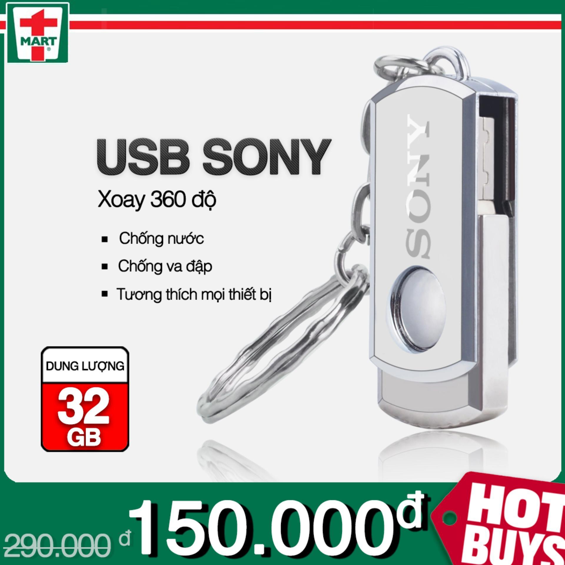 USB 32GB 2.0 Sony INOX hộp kim loại