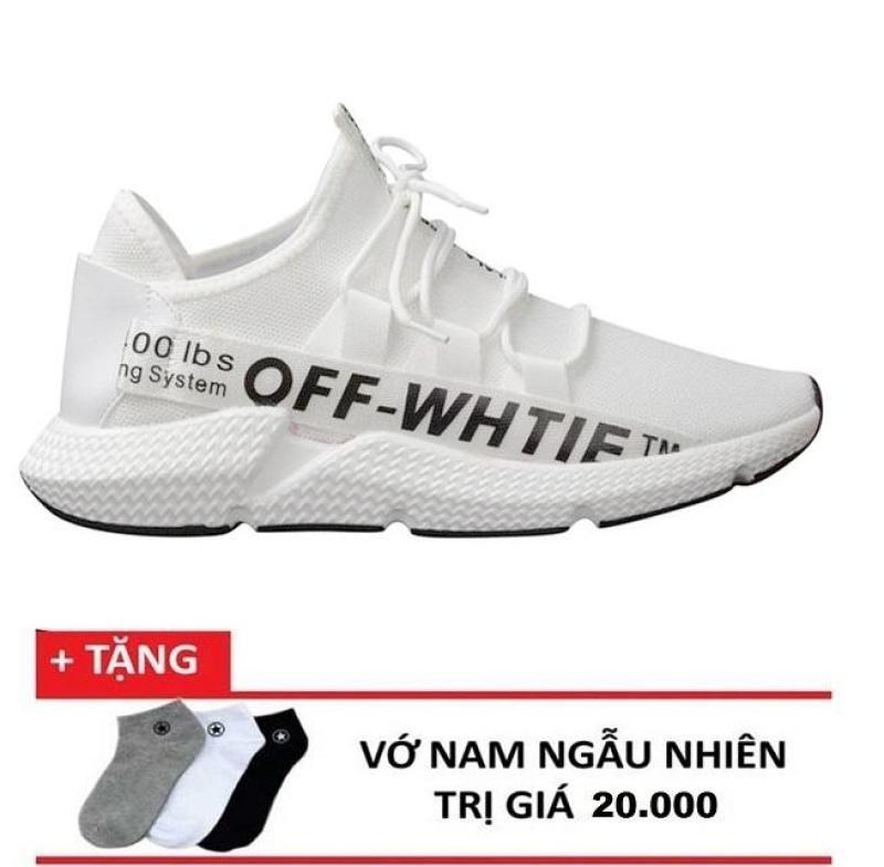 Giày thể thao Sneaker nam GNNEW06 (Trắng) + 1 đôi tất tặng kèm