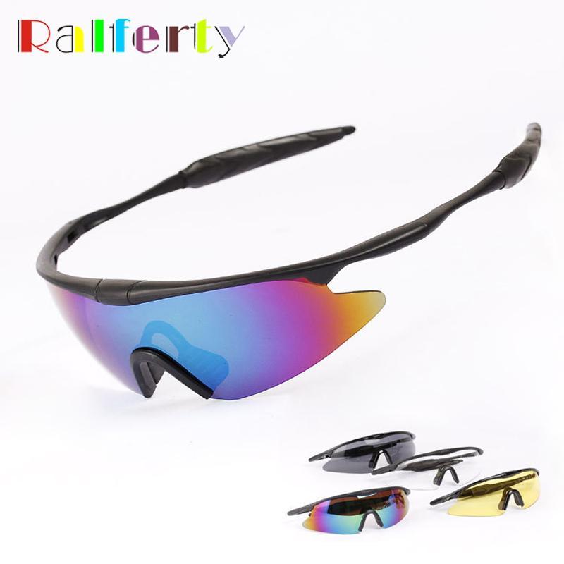 4e272a30fad Ralferty Mens Sports Sunglasses Anti uva Safety Glasses Sun Driving Fishing  Motocross Goggles Night Vision oculos