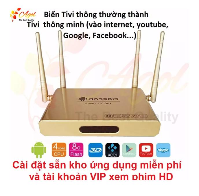 Hình ảnh Android TV BOX Q9 S-Plus 4 anten cấu hình mạnh