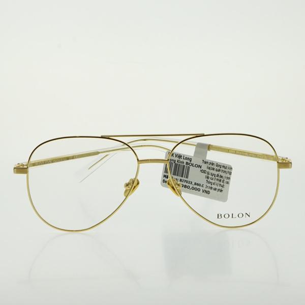 Giá bán GỌNG KÍNH BOLON BJ7023-B60 56-15 (Gọng kim loại màu vàng)