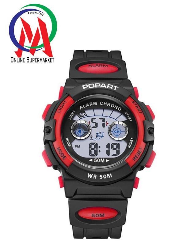 Đồng hồ Bé trai Popart OM-310 Chống Nước - đỏ viền bạc, đỏ viền đen bán chạy