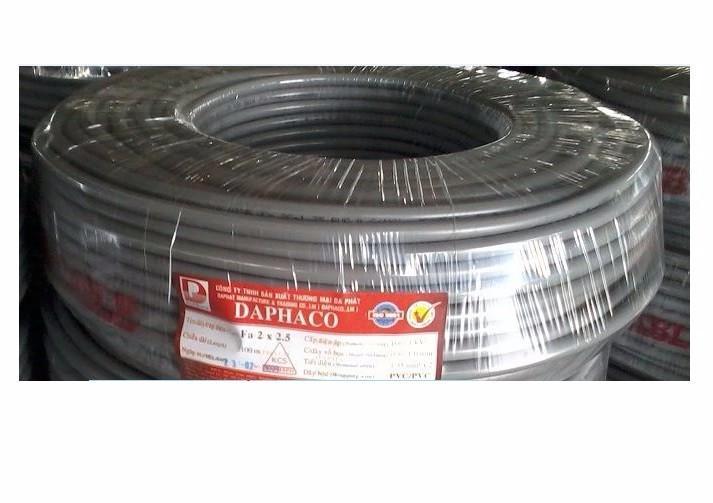 CÁP XÁM DAPHACO 2x1.0