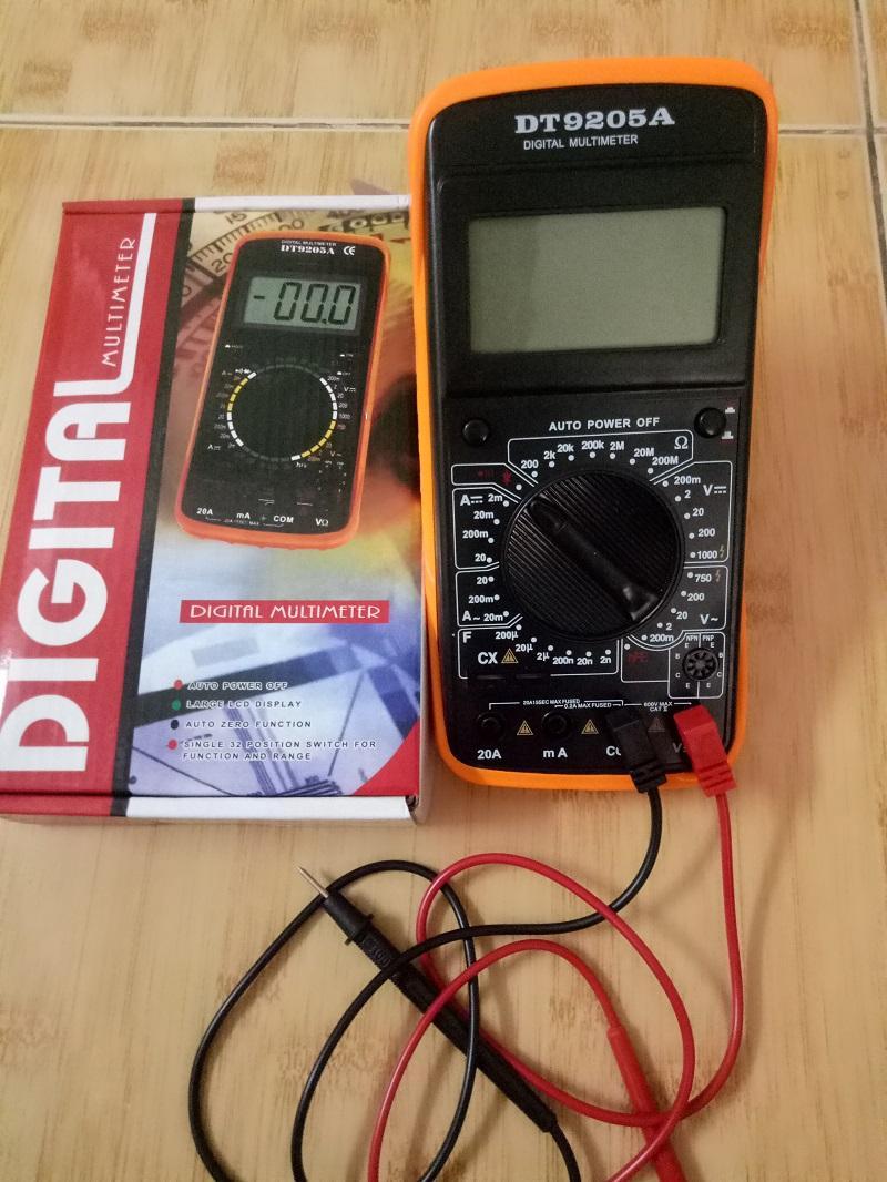 Bộ 1 Đồng Hồ Đo Vạn Năng Excel Dt9205A Kem Pin Va 1 But Thử Điện Oem Chiết Khấu 30