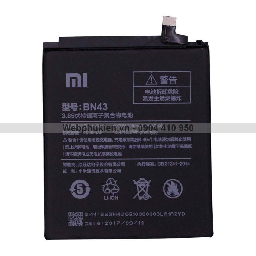 Pin Xịn Danh Cho Xiaomi Redmi Note 4X Bn43 Hang Nhập Khẩu Hà Nội