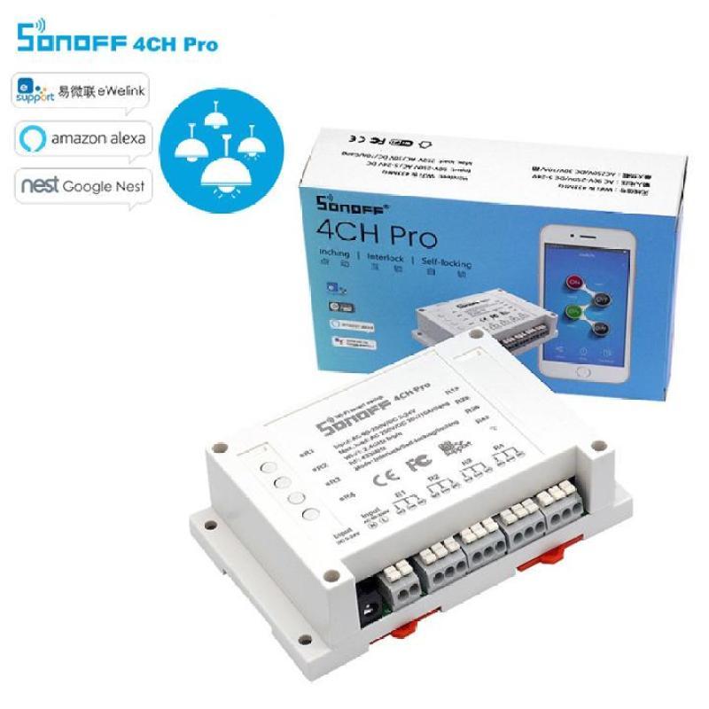 Sonoff 4CH pro - Công tắc wifi 4 kênh điều khiển từ xa qua điện thoại thông minh