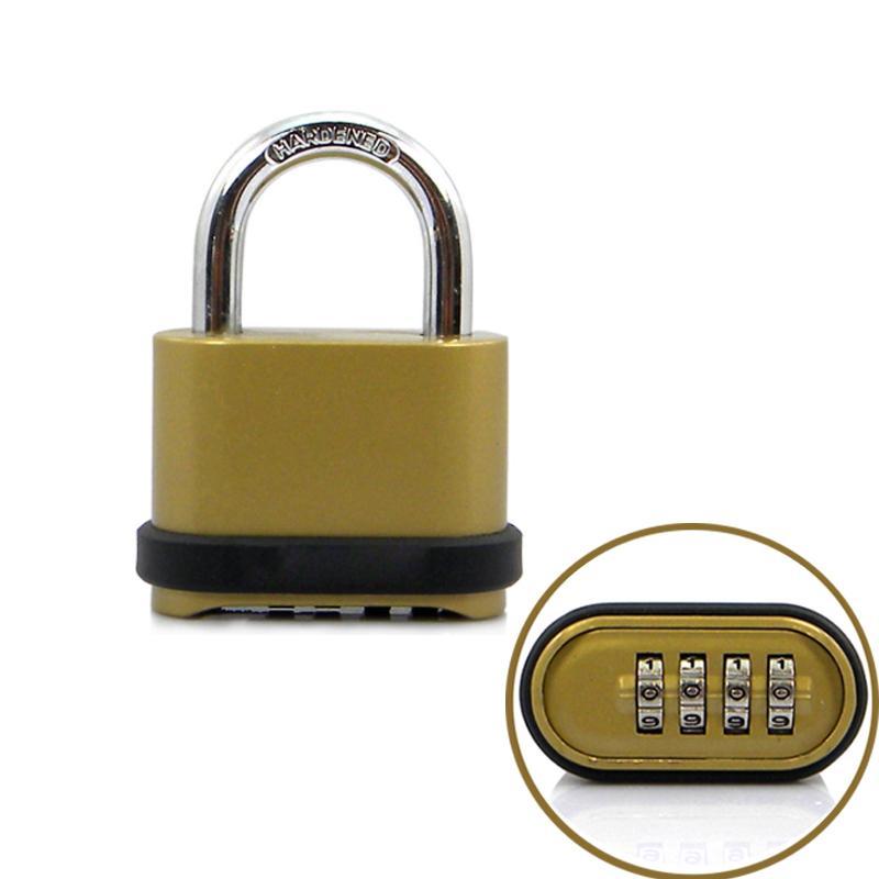 Khóa số chống trộm K25008 loại 4 số có thể thay đổi được mã số, làm bằng hợp kim Niken-Kẽm