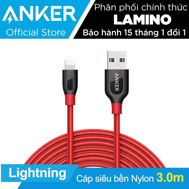 Chiết Khấu Sản Phẩm Cap Sạc Sieu Bền Anker Powerline Lightning 3M Cho Iphone Ipad Ipod Đỏ Hang Phan Phối Chinh Thức