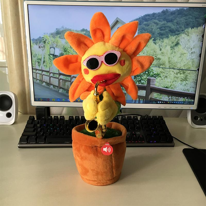 Hình ảnh bông hoa nhảy uốn éo theo nhạc có sẵn 60 bài hát ( hoa hướng dương vàng )