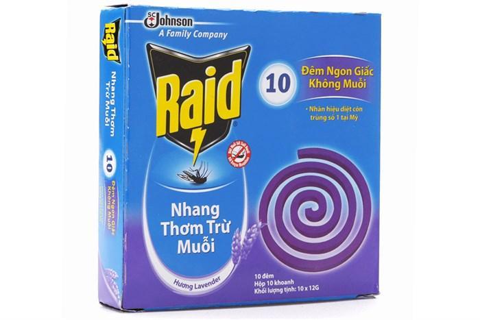 Hình ảnh Combo 5 hộp Nhang muỗi Raid hương Lavender (10 khoanh)