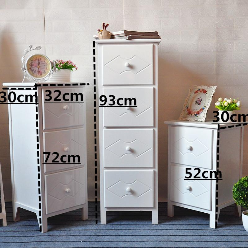 Between Storage Cabinets Drawer-type Narrow Cabinet Gap Combination Wooden Cabinet Locker Multilayer Solid Wood 30cm Bedside Table