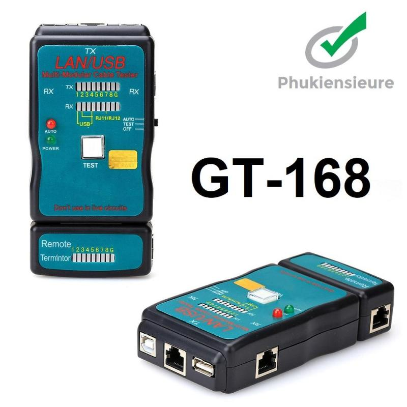 Bảng giá Hộp test cáp mạng, kiểm tra dây mạng đa năng CT-168 (RJ45-RJ11-USB) Phong Vũ