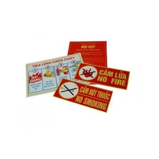 Hình ảnh Bộ nội quy tiêu lệnh PCCC, Cấm lửa, Cấm thuốc ( 4 tấm )