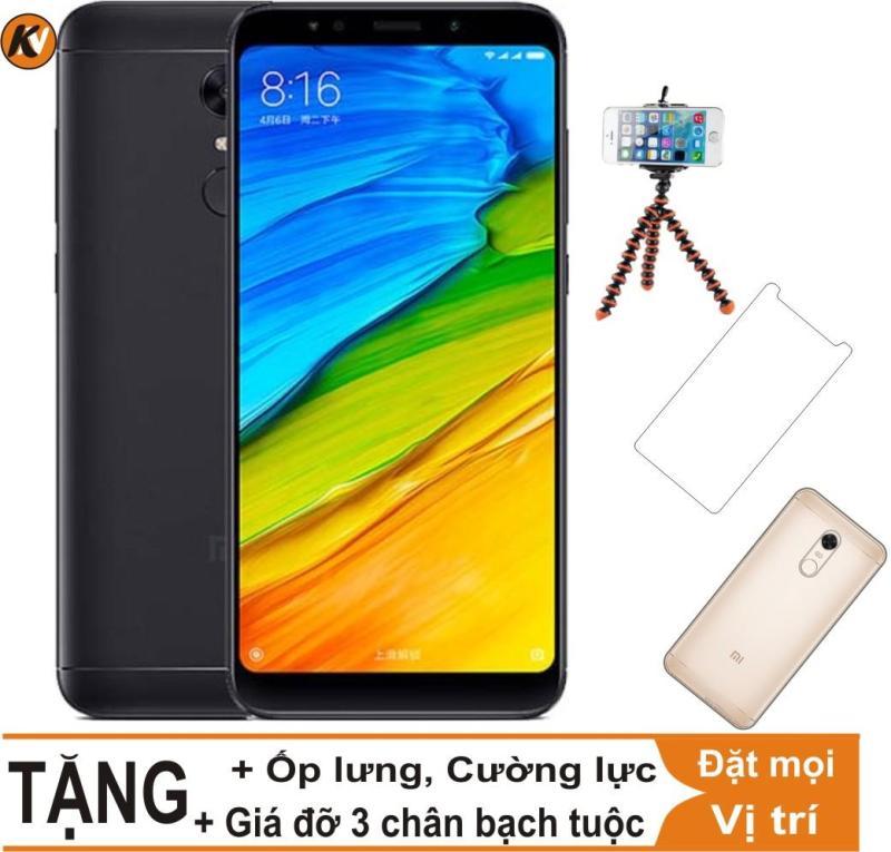 Xiaomi Redmi 5 Plus 32GB Ram 3GB Khang Nhung (Đen) - Hàng nhập khẩu + Ốp lưng + Cường lực + Giá đỡ 3 chân bạch tuộc