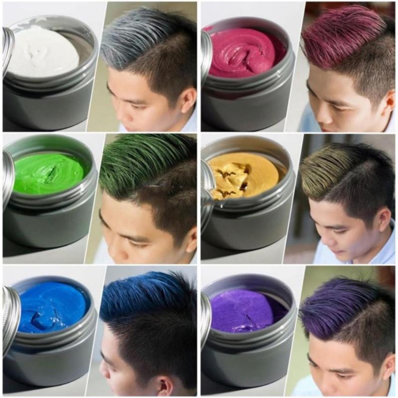 sáp vuôts tóc tạo màu cá tính đầy đủ 8 màu lựa chọn tiện lợi khi dùng nhập khẩu