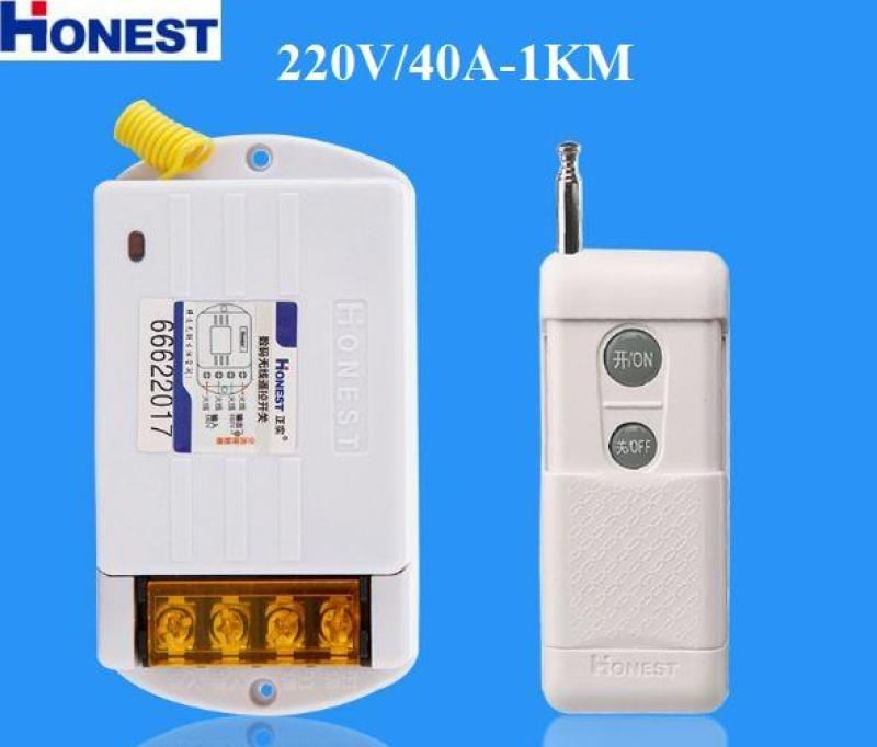 Công Tắc Điều Khiển Từ Xa Honest HT-6220WD-1 40A/220V khoảng cách 100-1Km (Trắng)
