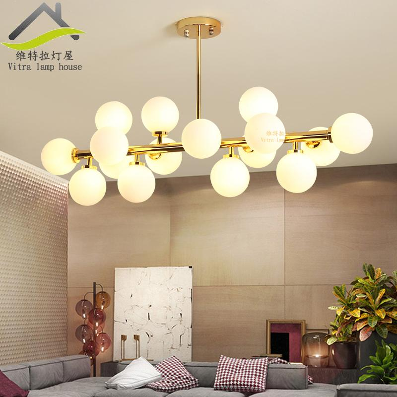 Northern Europe Ground Glass round Ball Cool Chandelier Post-modern Simple Creative Magic Beans European Style Chandelier Restaurant Living Room Lights Singapore