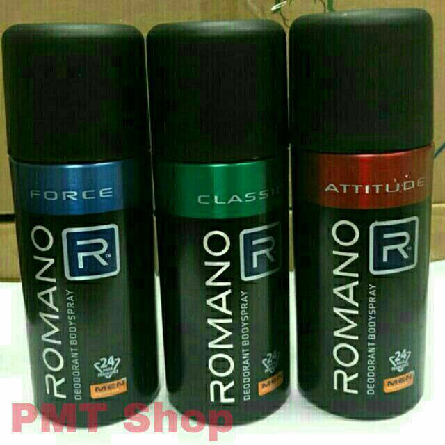 Hình ảnh Romano - Xịt ngăn mùi toàn thân Romano 150ml (Attitude, Classic, Equity, VIP, Force, Gentleman)