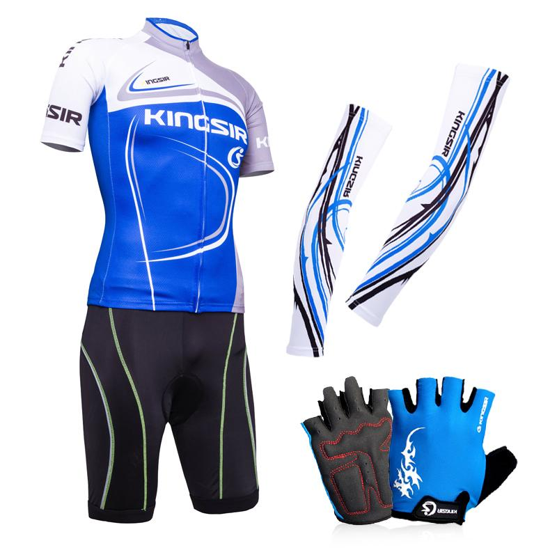 KS Short-sleeved Cycling Outfit Cuff Gloves Cool Set Men And Women Summer  Jersey Bike edc32af13