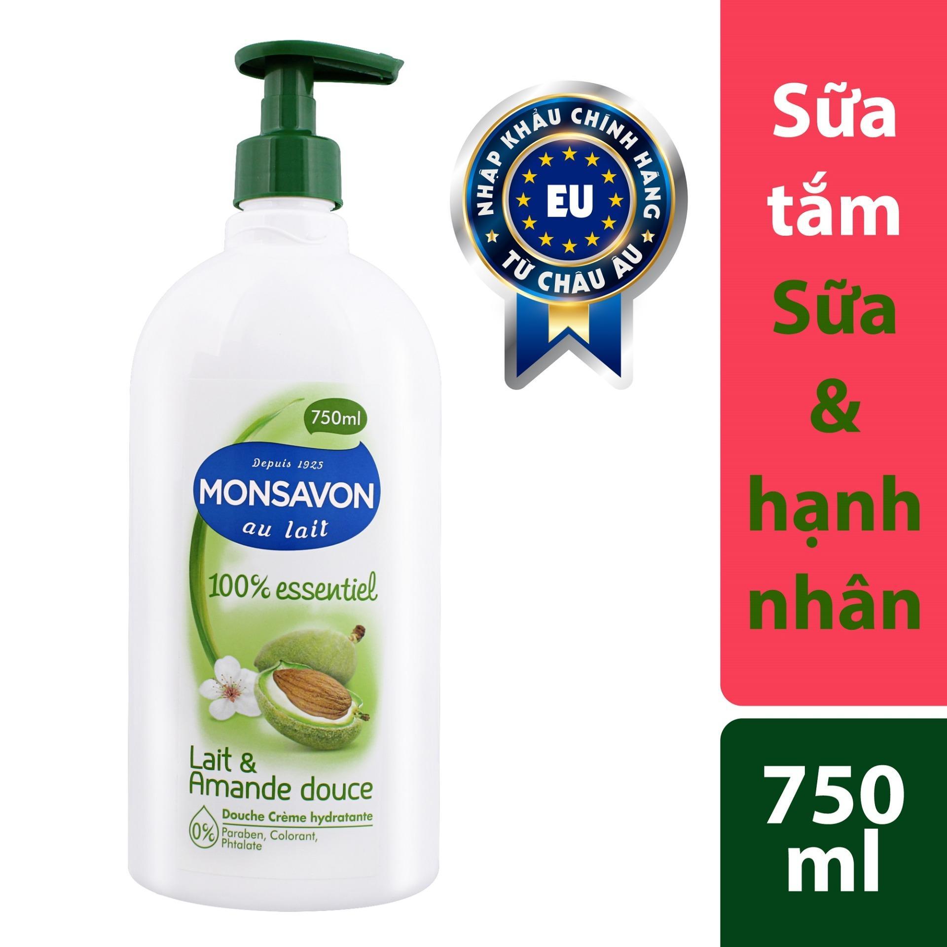 Bán Mua Sữa Tắm Chiết Xuất Hạnh Nhan Va Sữa Monsavon 750Ml Trong Bình Dương