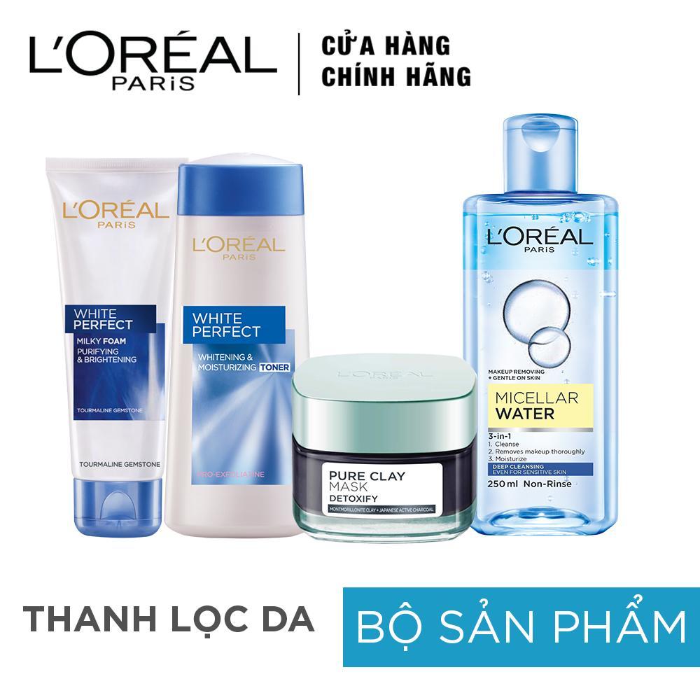Hình ảnh Bộ sản phẩm Thanh Lọc Da Hè L'oreal Paris Summer Detox skin care