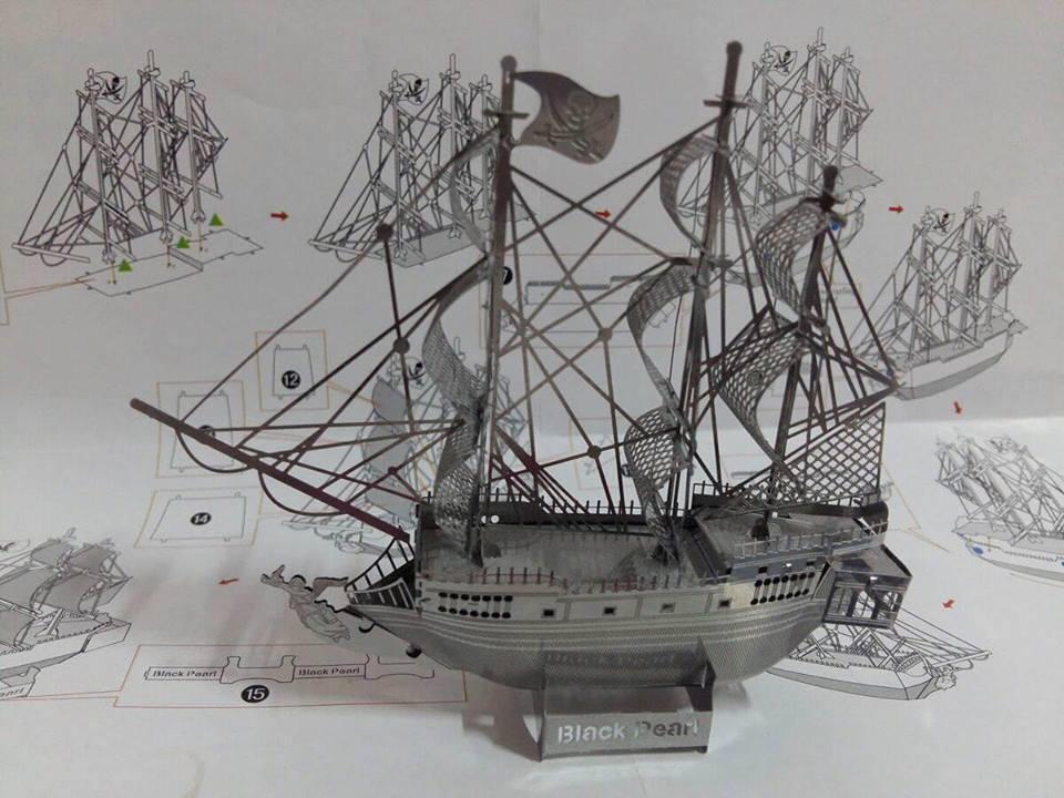 Hình ảnh Mô hình bằng thép không gỉ Tàu cướp biển caribe bằng thép không gỉ