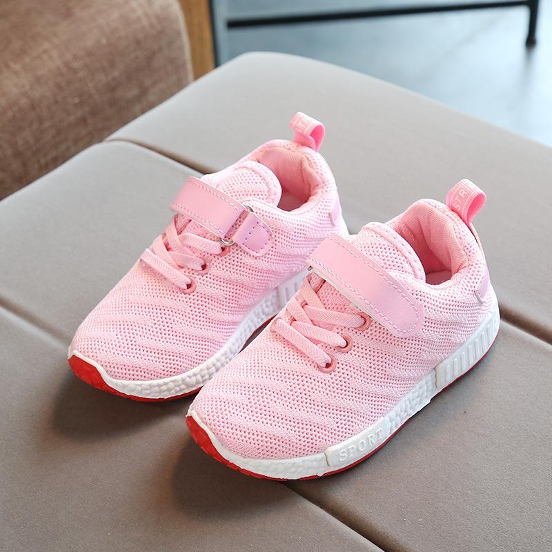 Hình ảnh Giày thể thao siêu nhẹ cho bé (kèm ảnh thật full hộp) - hồng- Size 26 đến 37 - V57