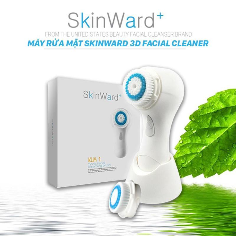 Máy Rửa Mặt SKINWARD 3D Facial Cleaner USA + Tặng kèm băng đô rửa mặt tai mèo dễ thương trị giá 50.000đ