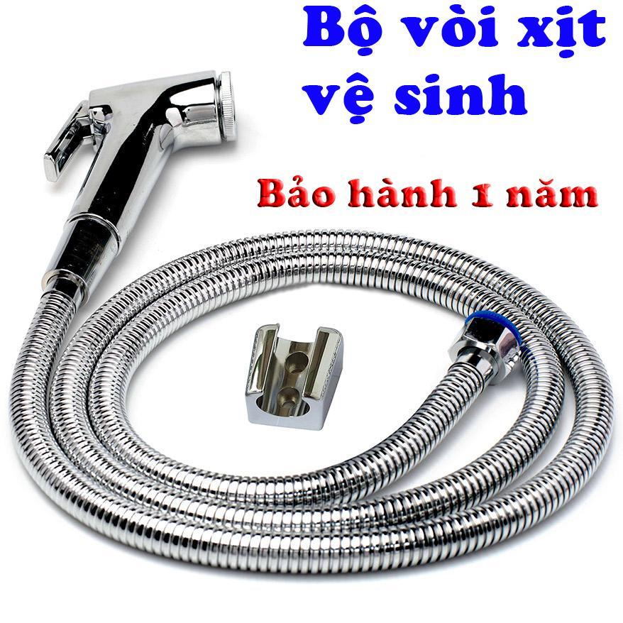 Hình ảnh Bộ vòi xịt vệ sinh VX-X01 (Trắng bạc) + tặng kèm vít nở bắt cài xịt
