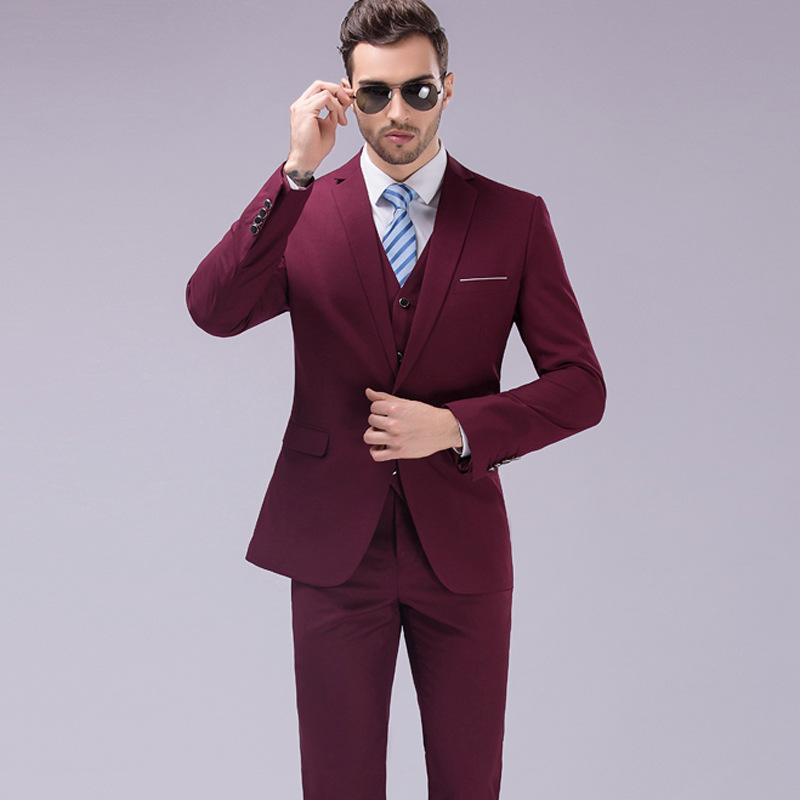 8fc5cd38f267 2017 Latest Designs Men Suits Slim Fit 3 Piece(Coat+Pant+Vest)