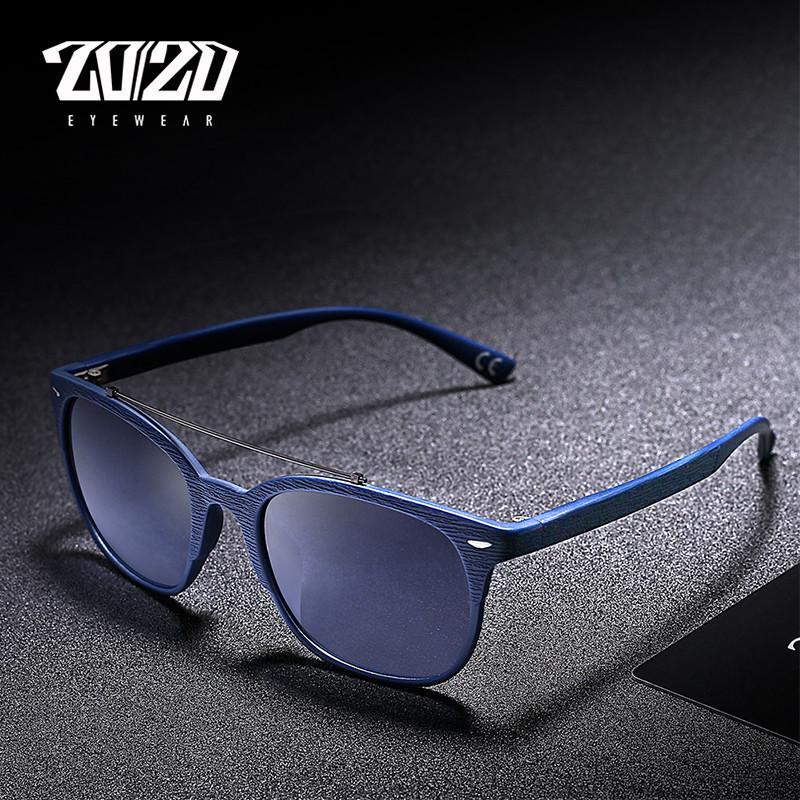 20/20 Brand Men Polarized Sunglasses Women Vintage Blue Lens Sun Glasses New Style TR90